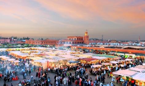 vista della piazza del mercato