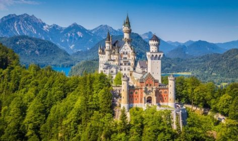 castello, neuschwanstein, baviera, re, ottocento, germania, alpi