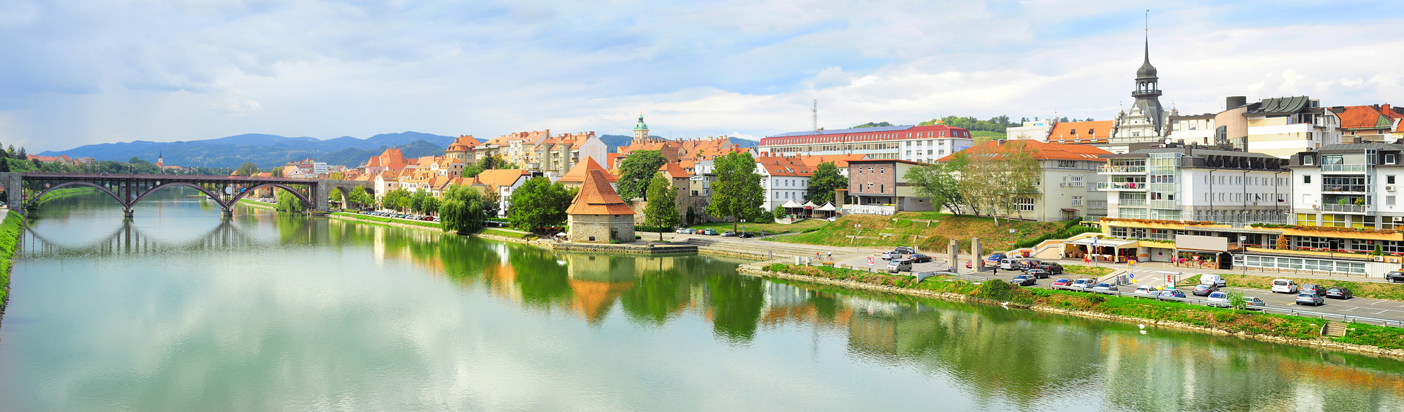 slovenia, maribor, città, vista, cultura, turismo
