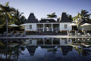 hotel, mauritius, isola, piscina, palme