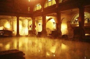 bagno termale, romano, piscina, candele, centro termale, benessere