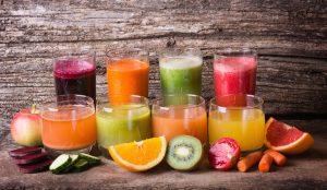 Serie di succhi realizzati con ingredienti naturali e salutari