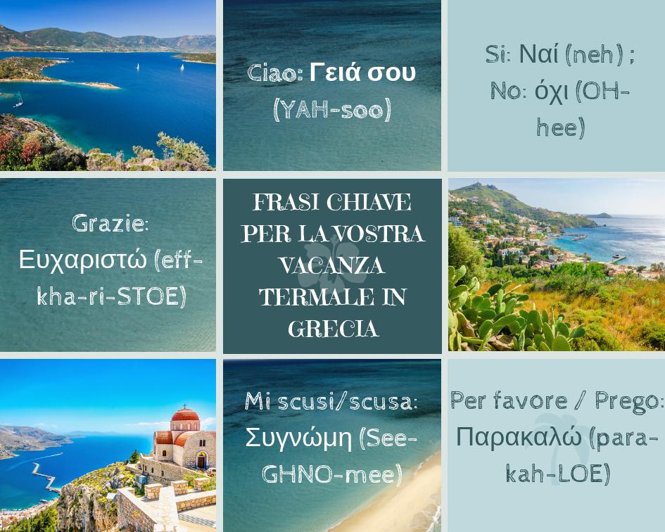 Frasi chiave per la vostra vacanza in Grecia