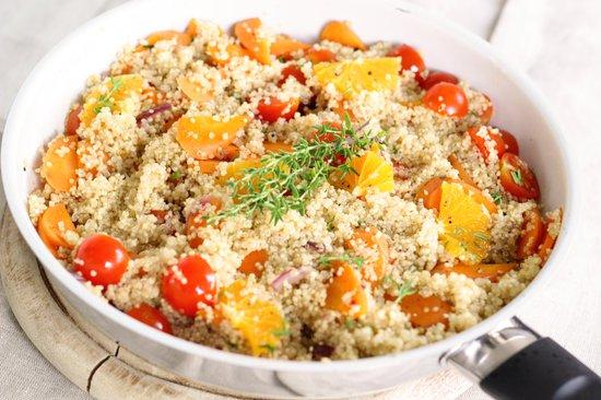 padella di quinoa