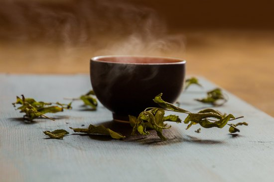 tazza di té verde