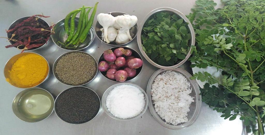 ingredienti spinaci al cocco