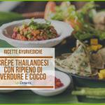 Crêpe thailandesi con ripieno di verdure e cocco