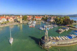 Lindau, Germania, città, turismo, porto, barche, estate, lago