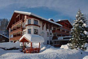 hotel, königshof, resort, inverno, alpi, neve, spa, germania, algovia, oberstaufen
