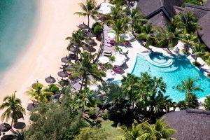 mauritius, isola, hotel, lusso, spiaggia, oceano, palme