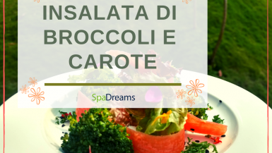 Piatto con insalata di broccoli e carote